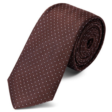 Burnished Brown Polka Dot Silk Bow Tie Trendhim J4ur7bs