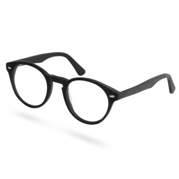Ebenholz Gerahmte Brille Mit Transparenten Brillengläsern HGW5WQt