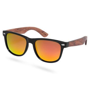 Schwarze Polarisierte Palisanderholz Sonnenbrille wuyHvCrrqY
