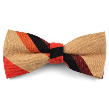 Navy Emblem Striped Bow Tie Trendhim H466K8Iw3
