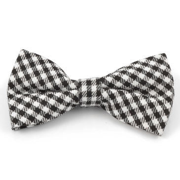 White/Black Chequered Soft Bow Tie Trendhim Dt9a2