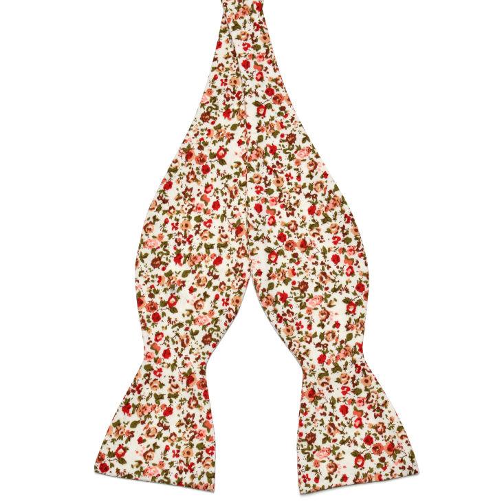 Fleurs Rouges Pur Coton Cravate Noeud Papillon Trendhim logCvkCFr