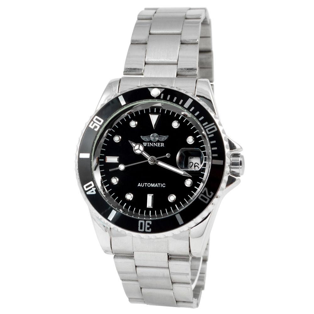 Automatické pánské hodinky z oceli  07cadc9eb6
