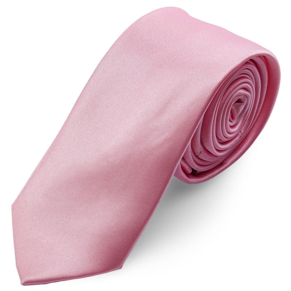 b817db1e42 Fényes babarózsaszín nyakkendő - 6 cm | Készleten! | TND Basics