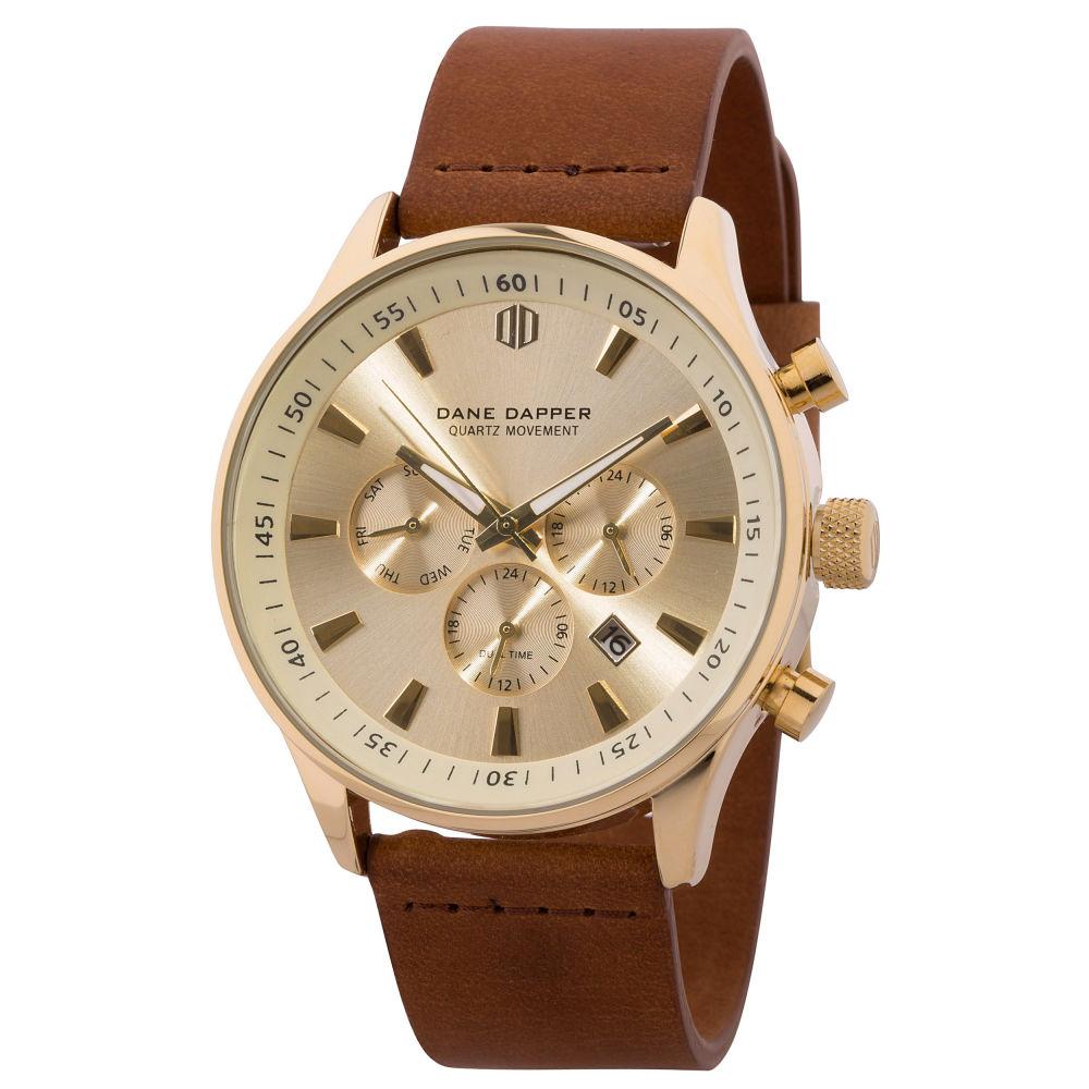 f40fa630fd8b Reloj marrón y dorado Troika