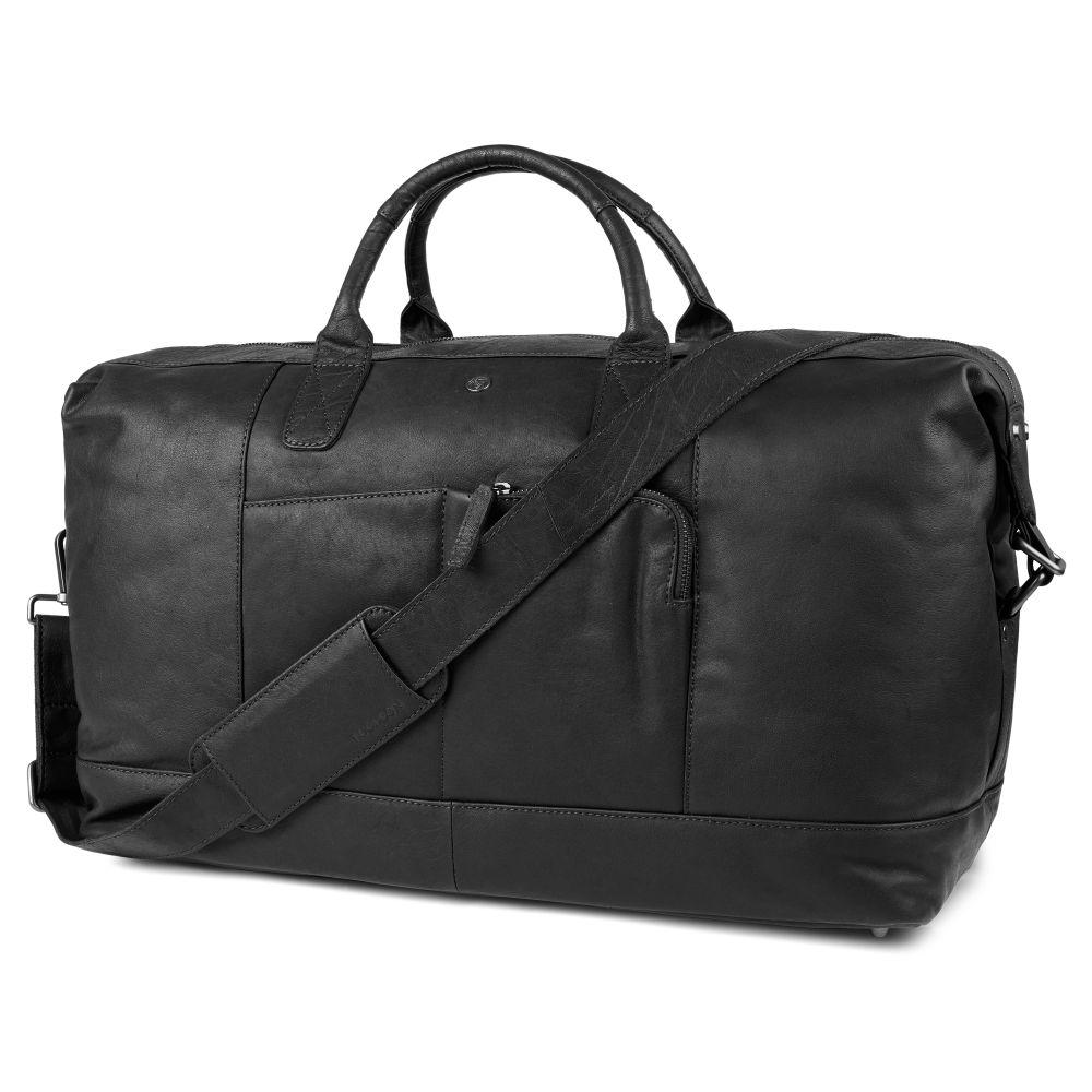 571cda6623332 Czarna skórzana klasyczna torba sportowa Oxford