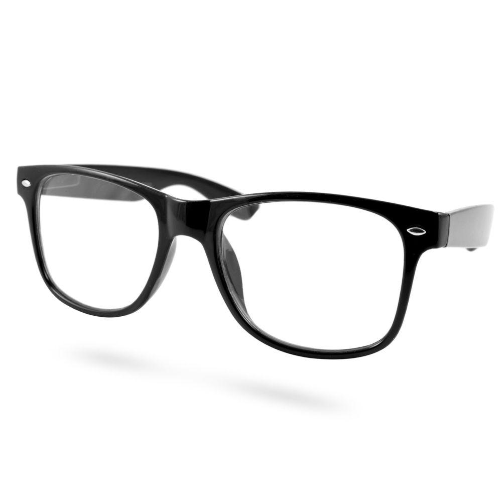 Lunettes noires rétro petite taille à verres transparents   En stock!    EverShade c51179482e69