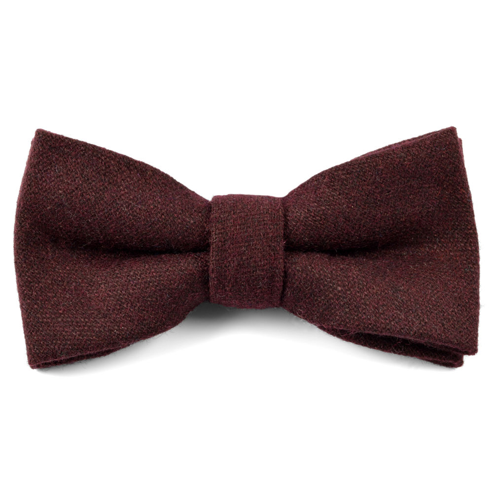 Brown Chequered Handmade Wool Bow Tie Trendhim