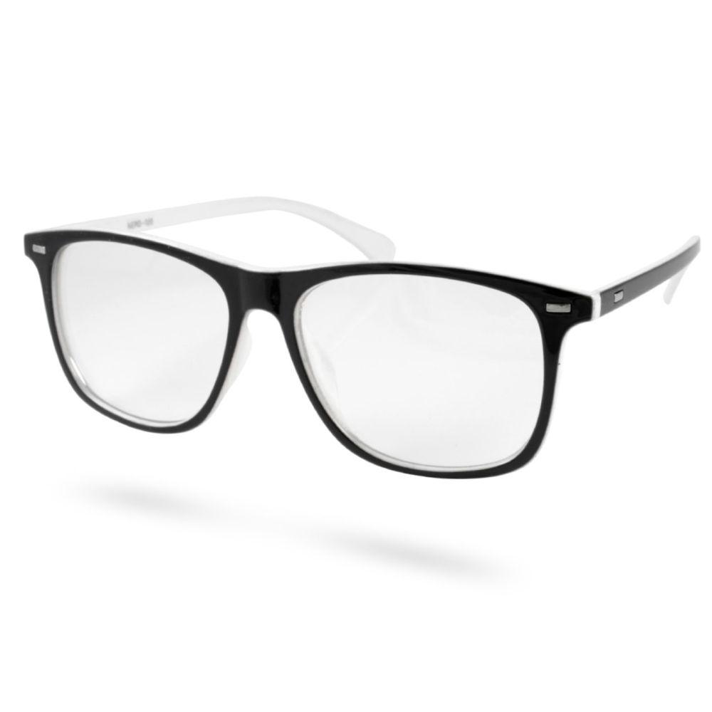 Fekete-fehér Lion retró szemüveg  970ee98794