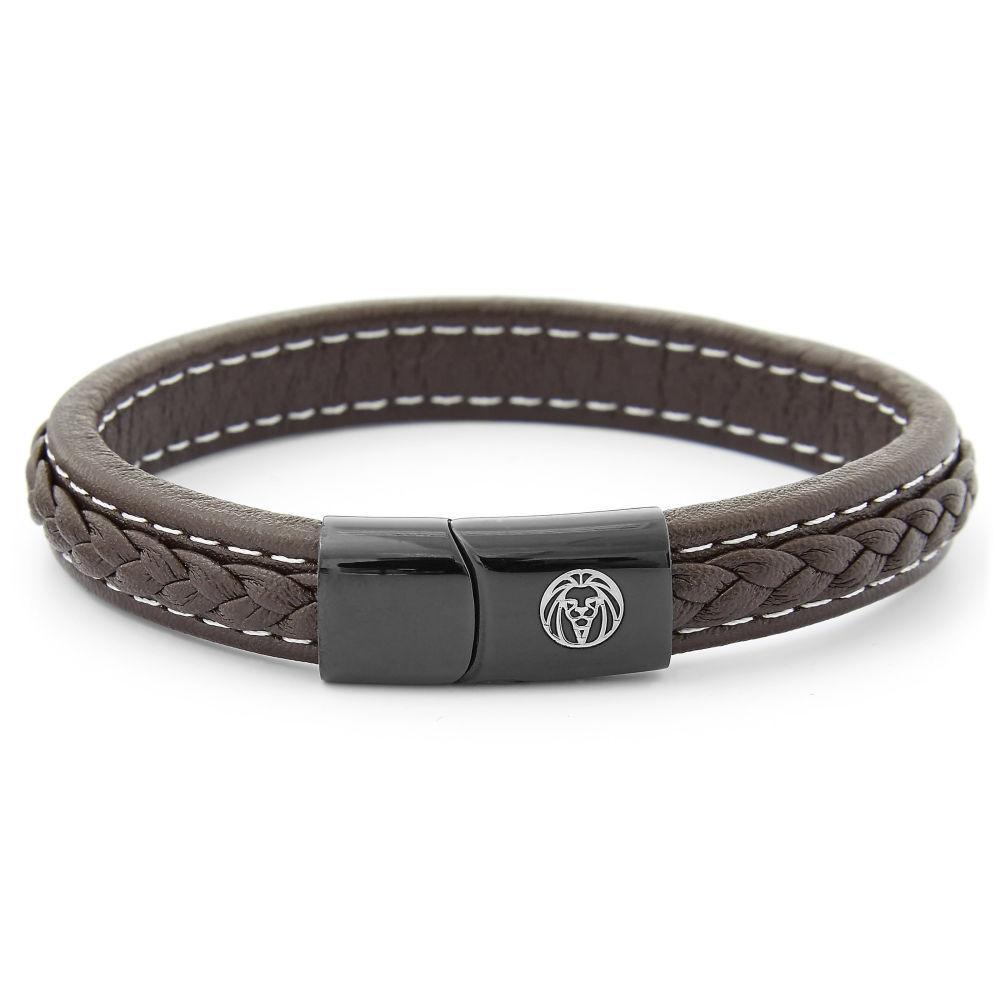 595dccfdc2a Bracelet en cuir brun rétro