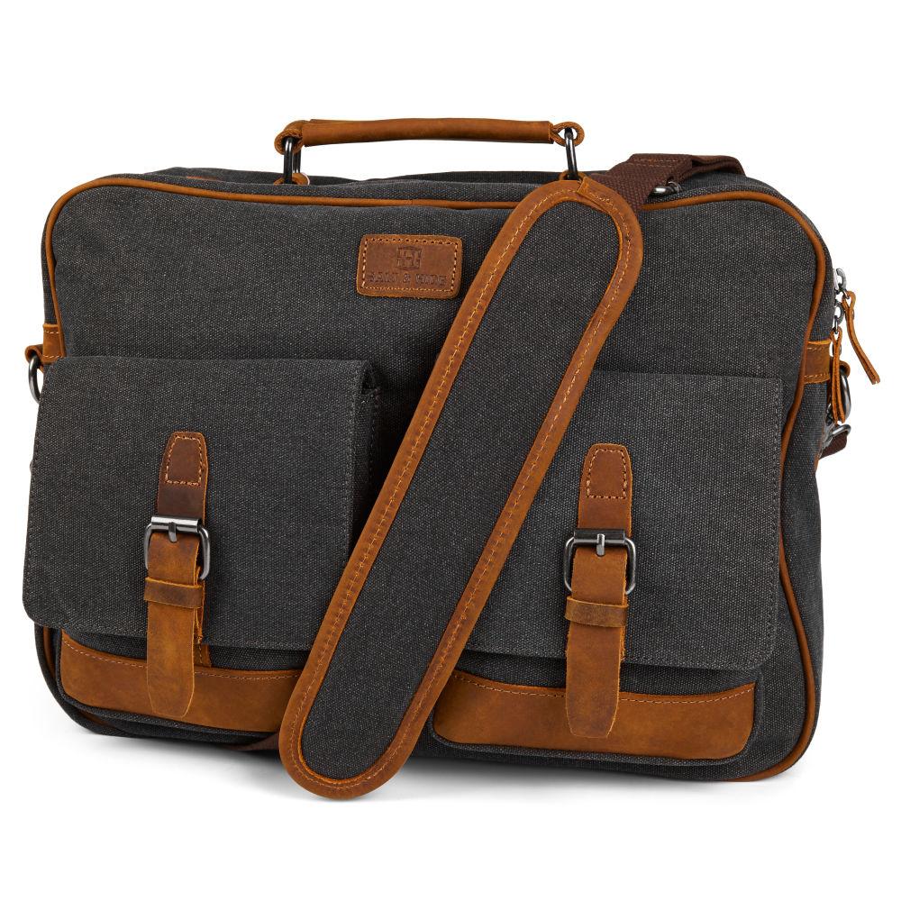 Simon Grey   Tan Messenger Bag  deee30767fc38
