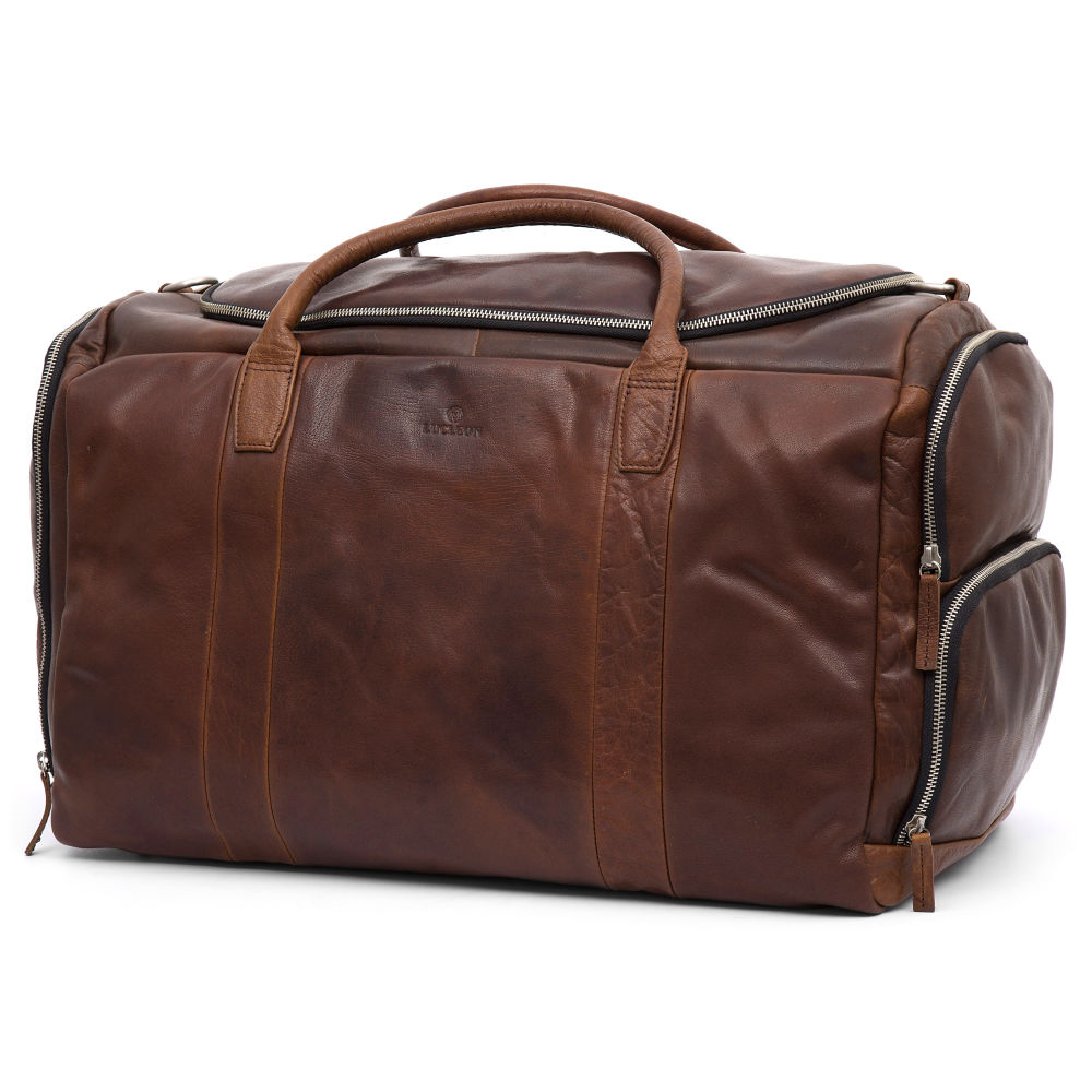 7a5667543c3c6 Kasztanowa skórzana torba sportowa Montreal