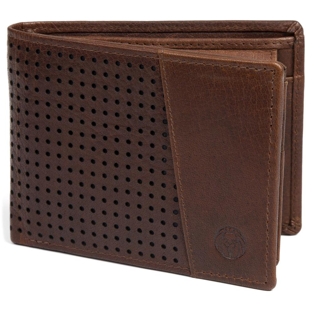 Portefeuille Montreal Dotty en cuir marron foncé RFID   En stock!   Lucleon 8bbd977d53b