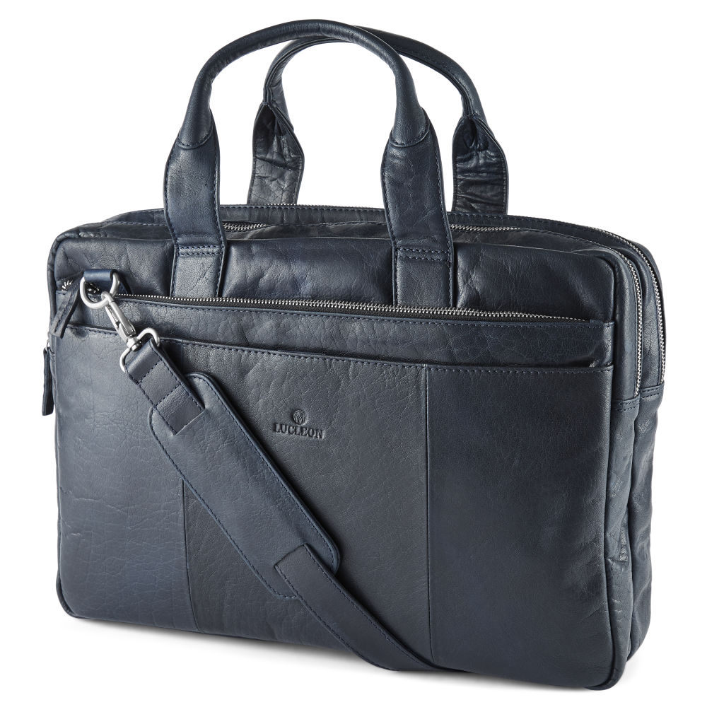 Montreal Navy Blue Leather Laptop Bag  0e566ecd53fa6