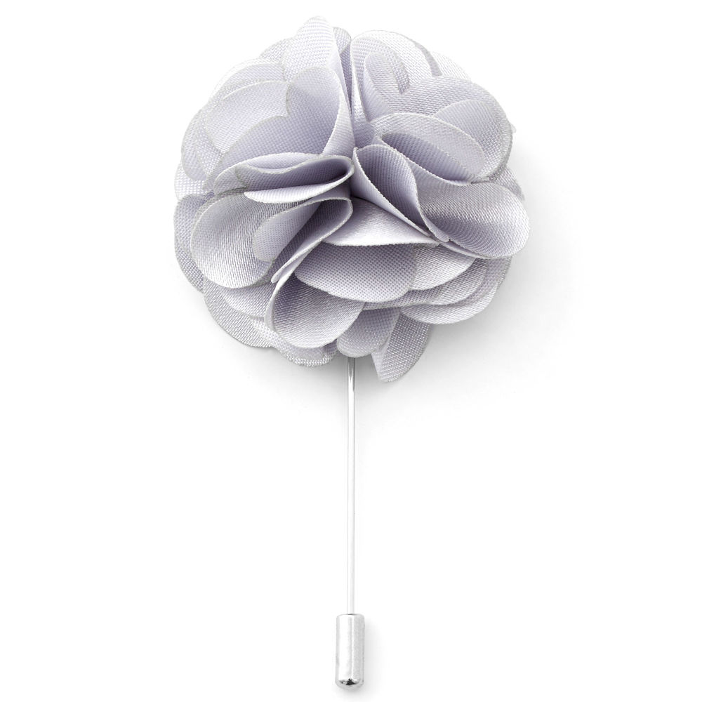 Καρφίτσα Πέτου Luxurious Silver Flower  a27a0fde844
