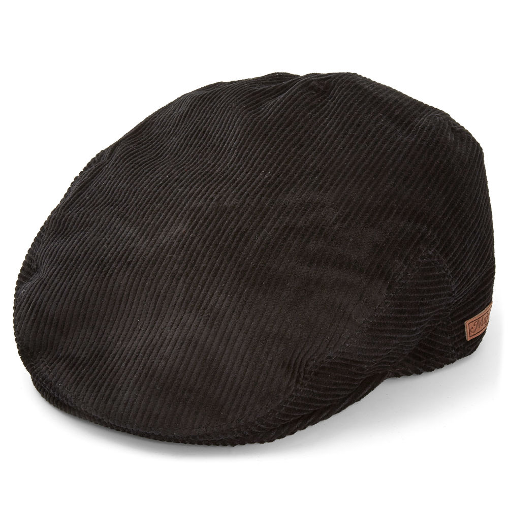 e6d990b0c26 Black Corduroy Flat Cap