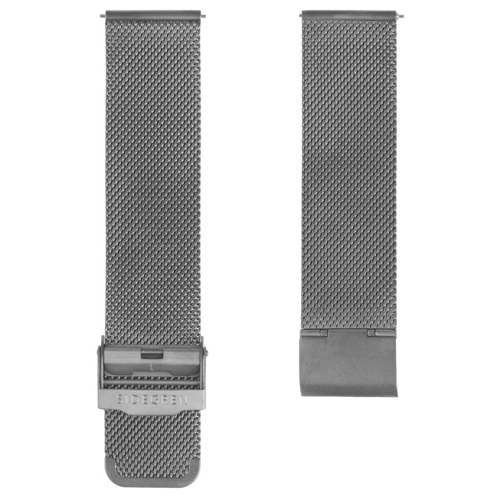 Šedý ocelový síťovaný řemínek na hodinky  4c3a343cc1