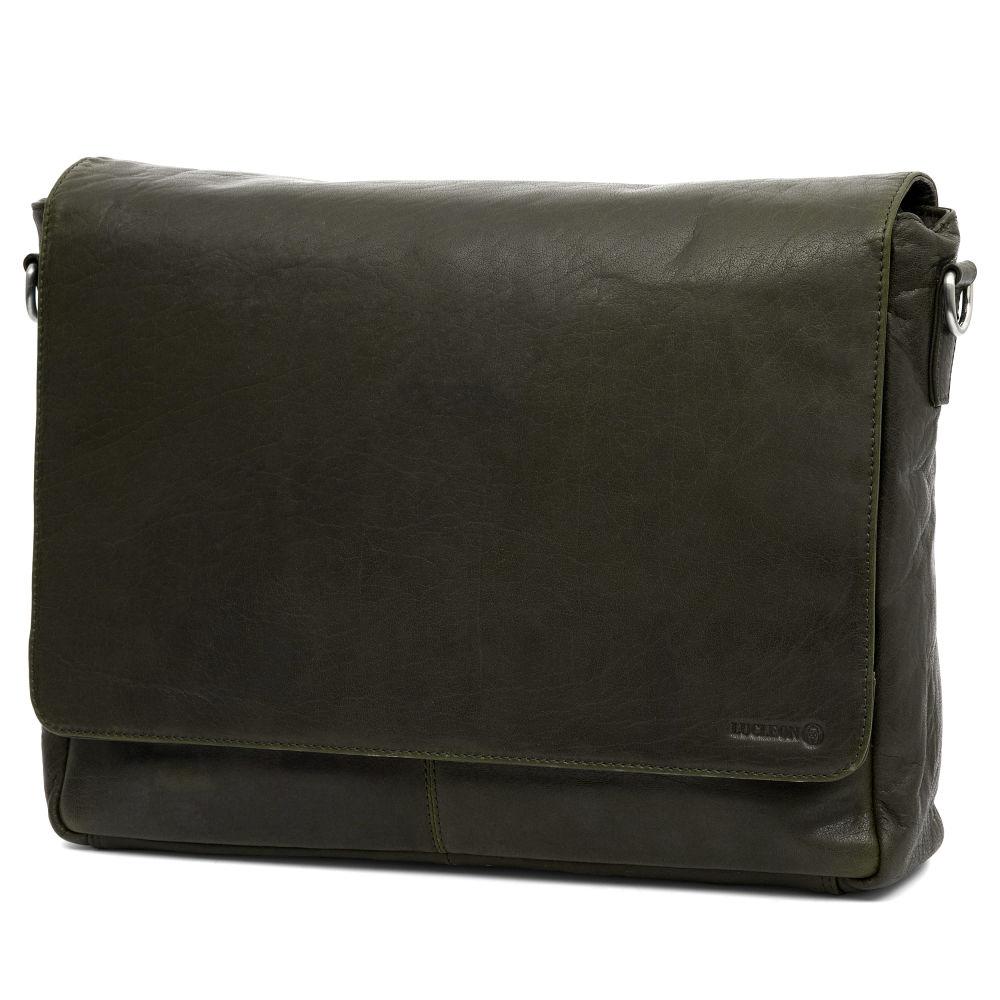 74ce446052 Δερμάτινες τσάντες. Δερμάτινη Τσάντα Ταχυδρόμου Montreal Olive Messenger