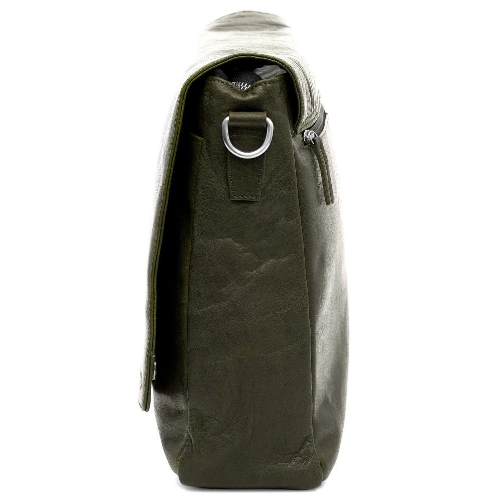 0ba2758b57 Δερμάτινη Τσάντα Ταχυδρόμου Montreal Olive Messenger