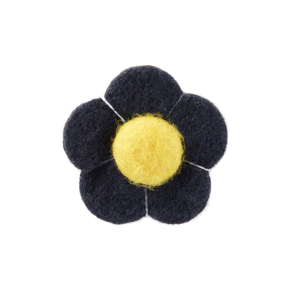 Καρφίτσα Πέτου Navy και Κίτρινο Λουλούδι  ef1a50738a0