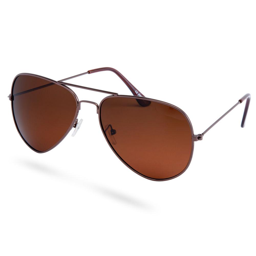 671dfbca96acc Gafas de sol aviador polarizadas marrón