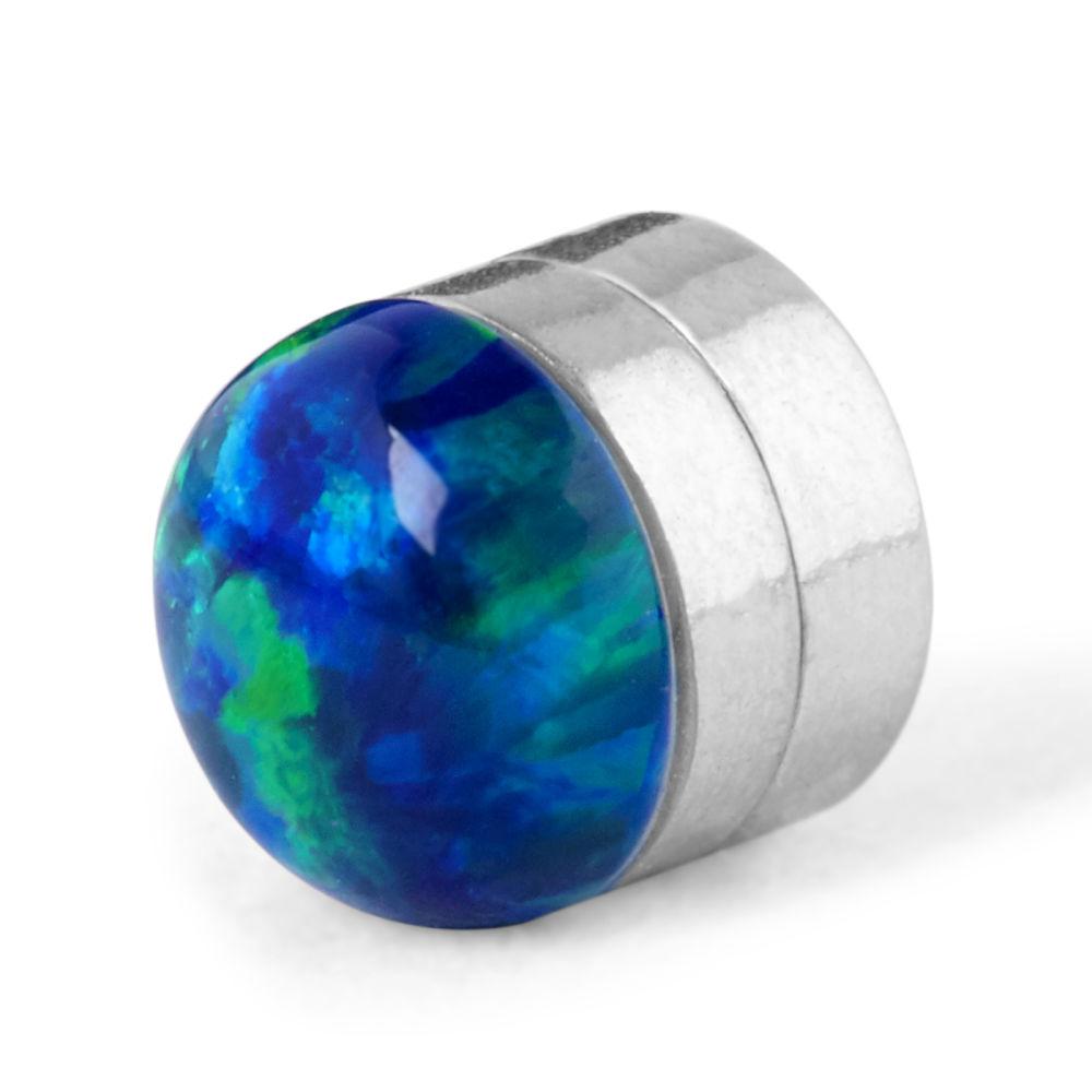 5 mm modrá magnetická náušnica v tvare zemegule  64d126d9644