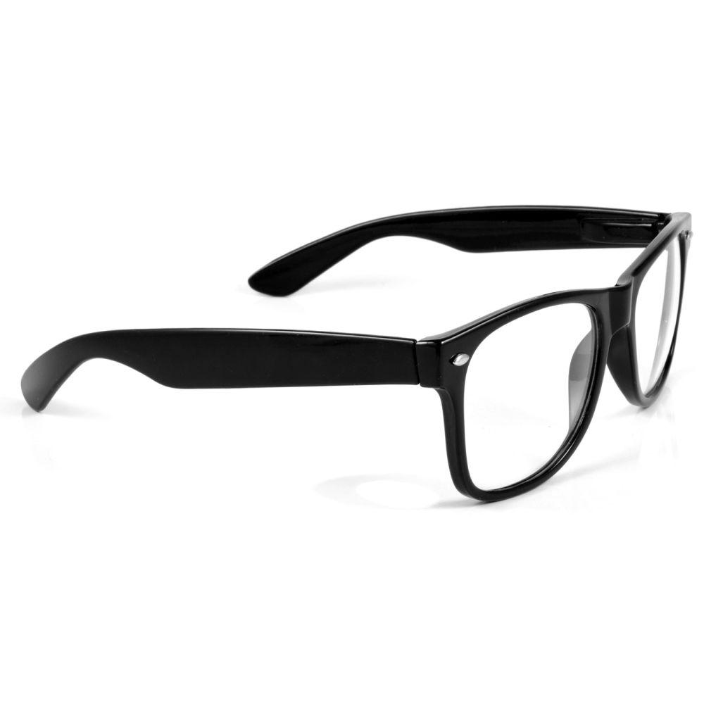 Schwarze Retro Brille Mit Transparenten Brillengläsern   Kostenloser ...