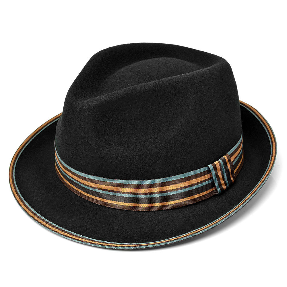Black Detail Trilby Hat  370fd3e57d1