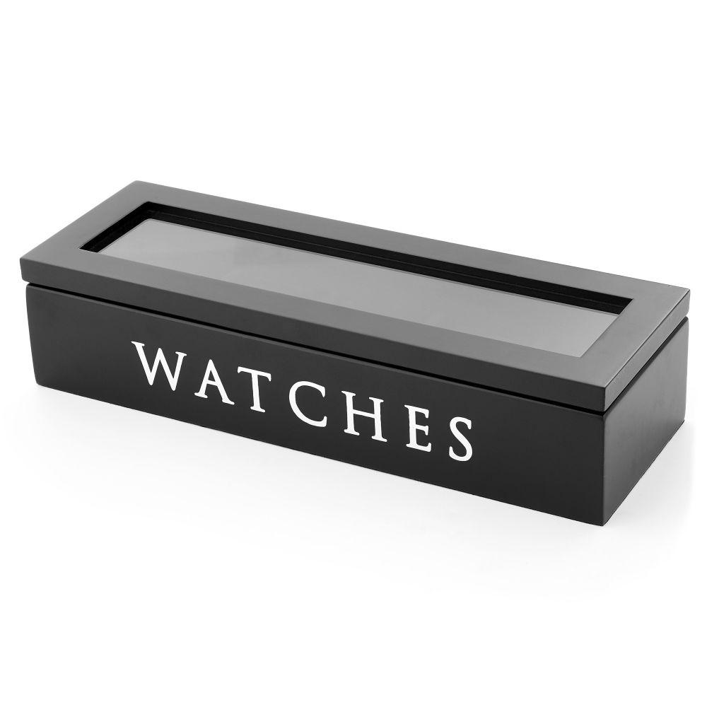 9d8276f2e51 Caixa em Madeira Preta - 5 Relógios