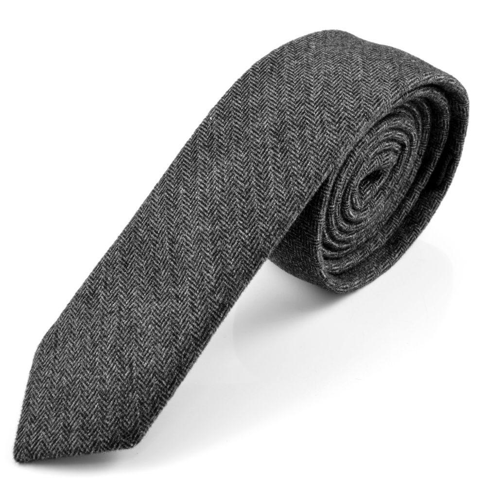 Cravatta di lana grigia  fffd493691b3