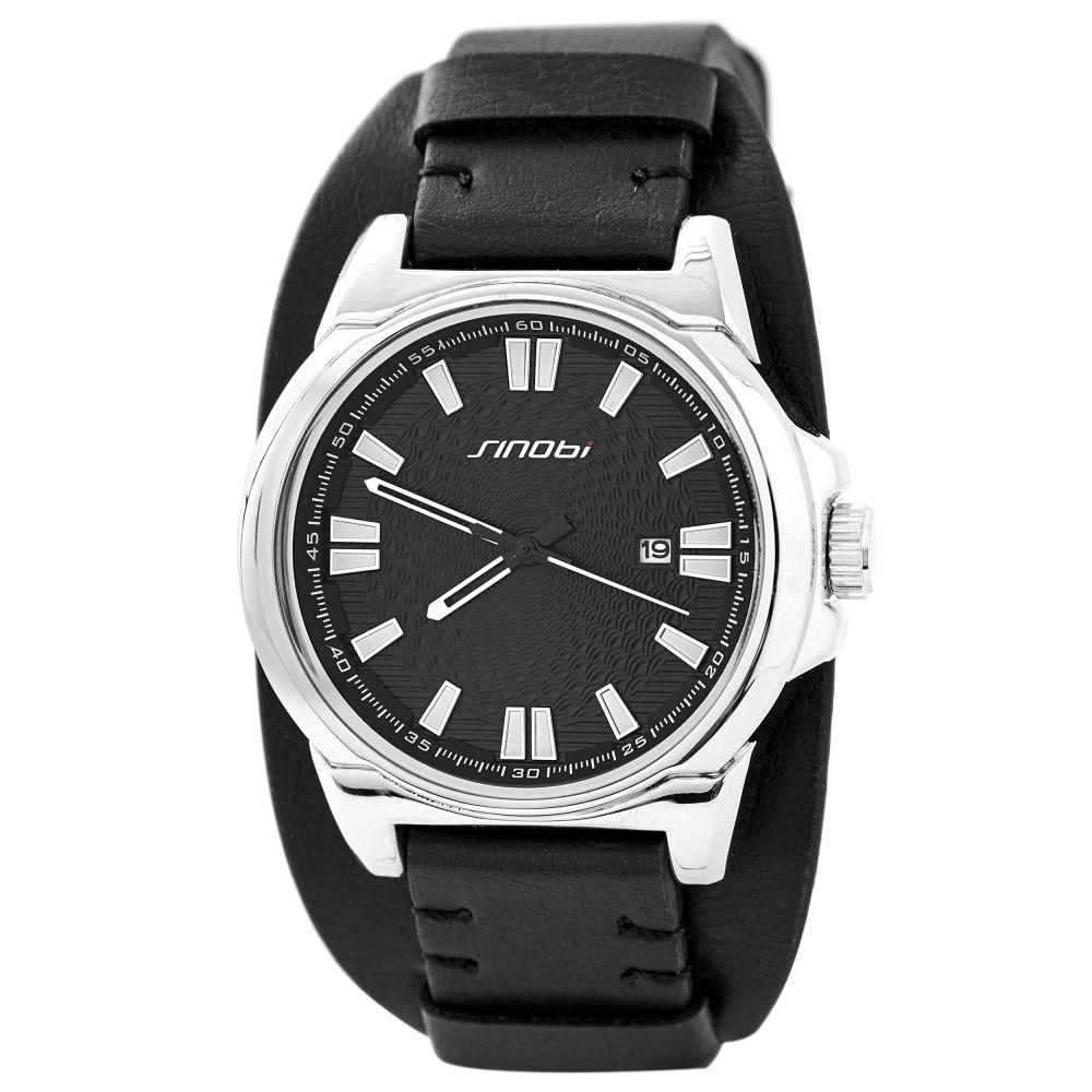 Černé hodinky s datumovkou  060cfc3603a