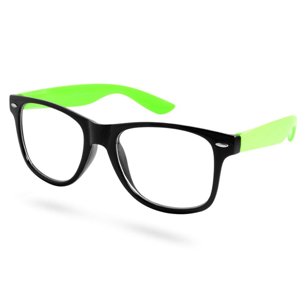 48ff4f976623 Sorte Grønne Briller Uden Styrke