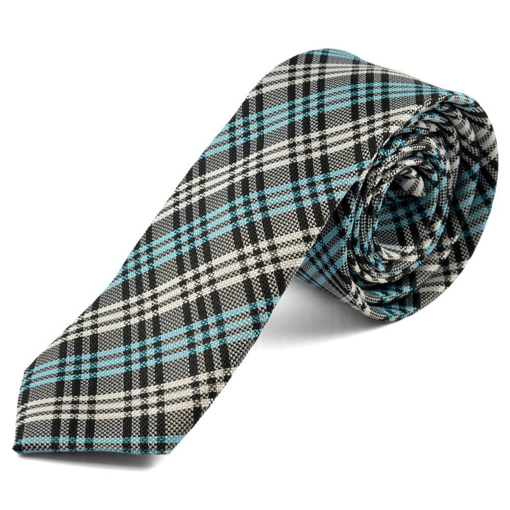 8d2ed72ab10 Modro-bílá kostkovaná kravata