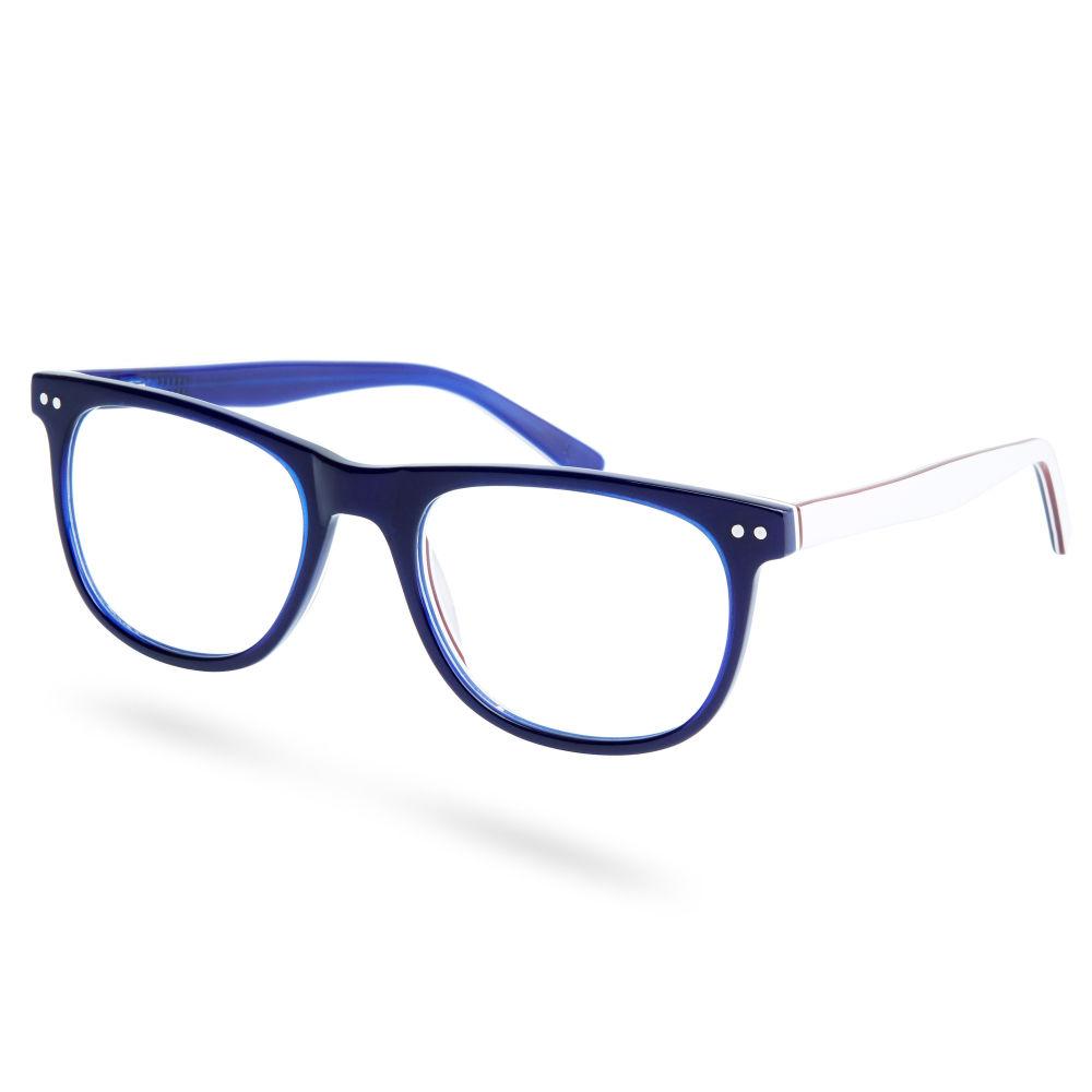 Óculos de Sol com Armação Azul e Hastes Brancas   Em stock!   Paul Riley fdf0ec5747