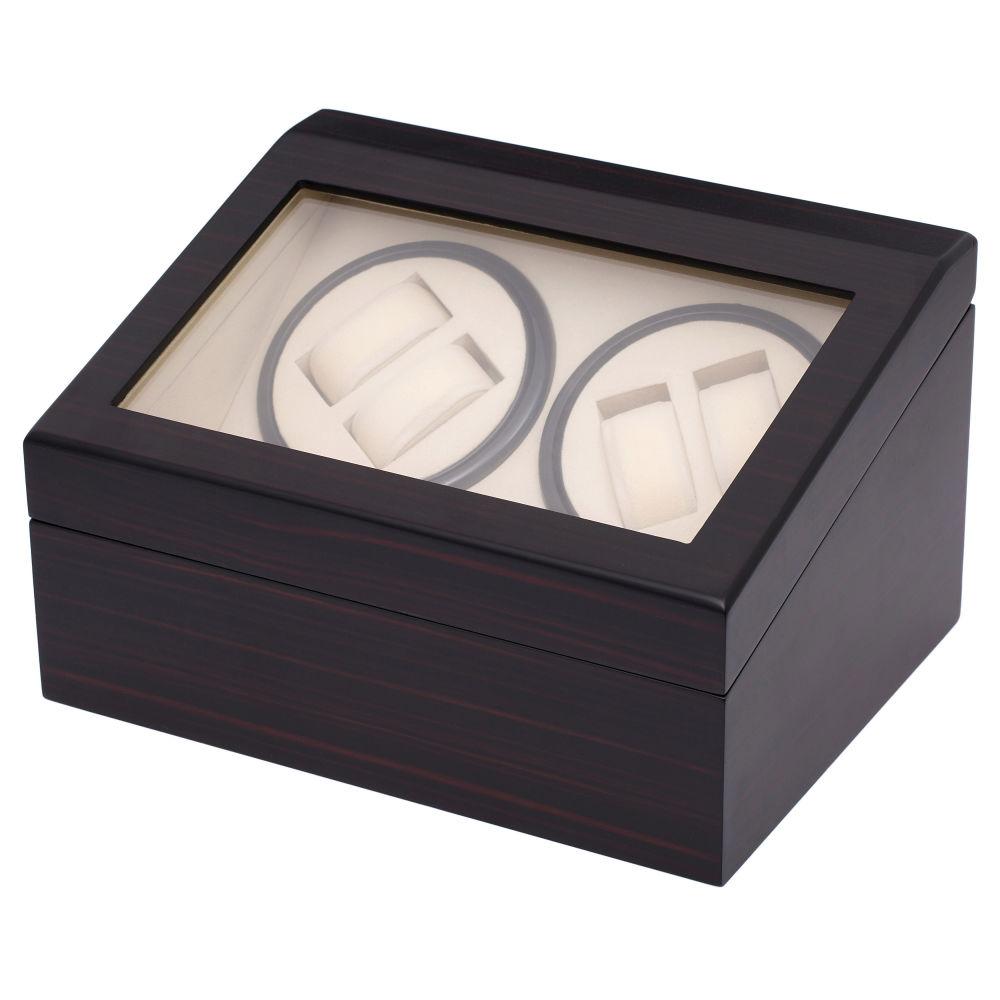 Ξύλινο Κουτί Φύλαξης Ρολογιών   Winder (Έβενος) - 10 Ρολόγια ... e6ea97e9d38