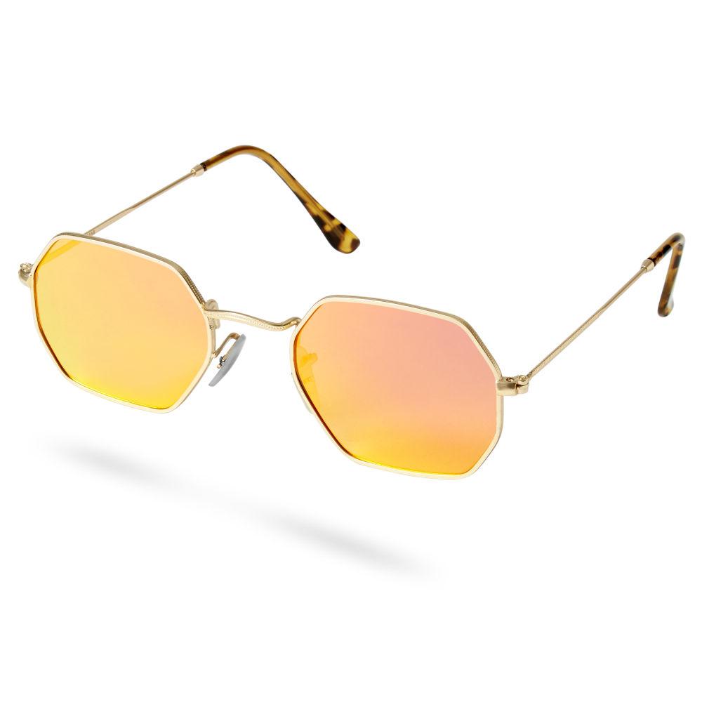 31b4c897da76 Groovy Gold-Toned and Orange Sunglasses