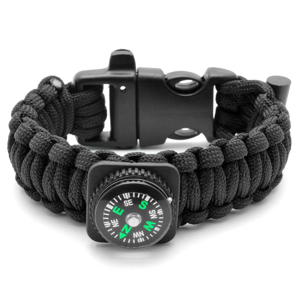 Černý Paracord náramek s kompasem  e61f9d6d90