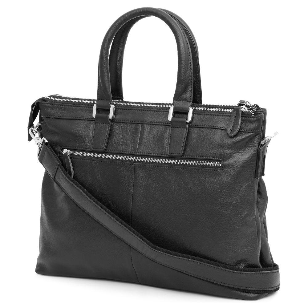0f8a113f0f Μαύρη Δερμάτινη Τσάντα Grab   Go