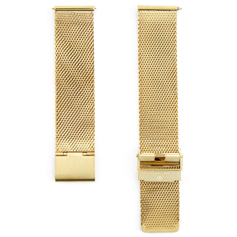 606dc6e806a4 Correa para reloj de malla metálica dorada