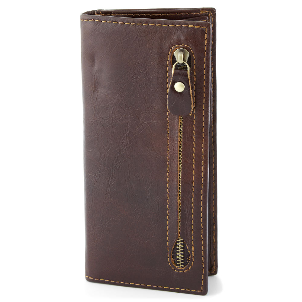 Kastanjebrun RFID Plånbok i skinn  b9789741ec811