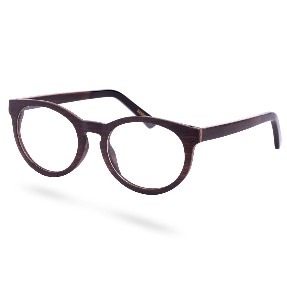 Clear Ebony Wood Framed Glasses | Free shipping | Paul Riley