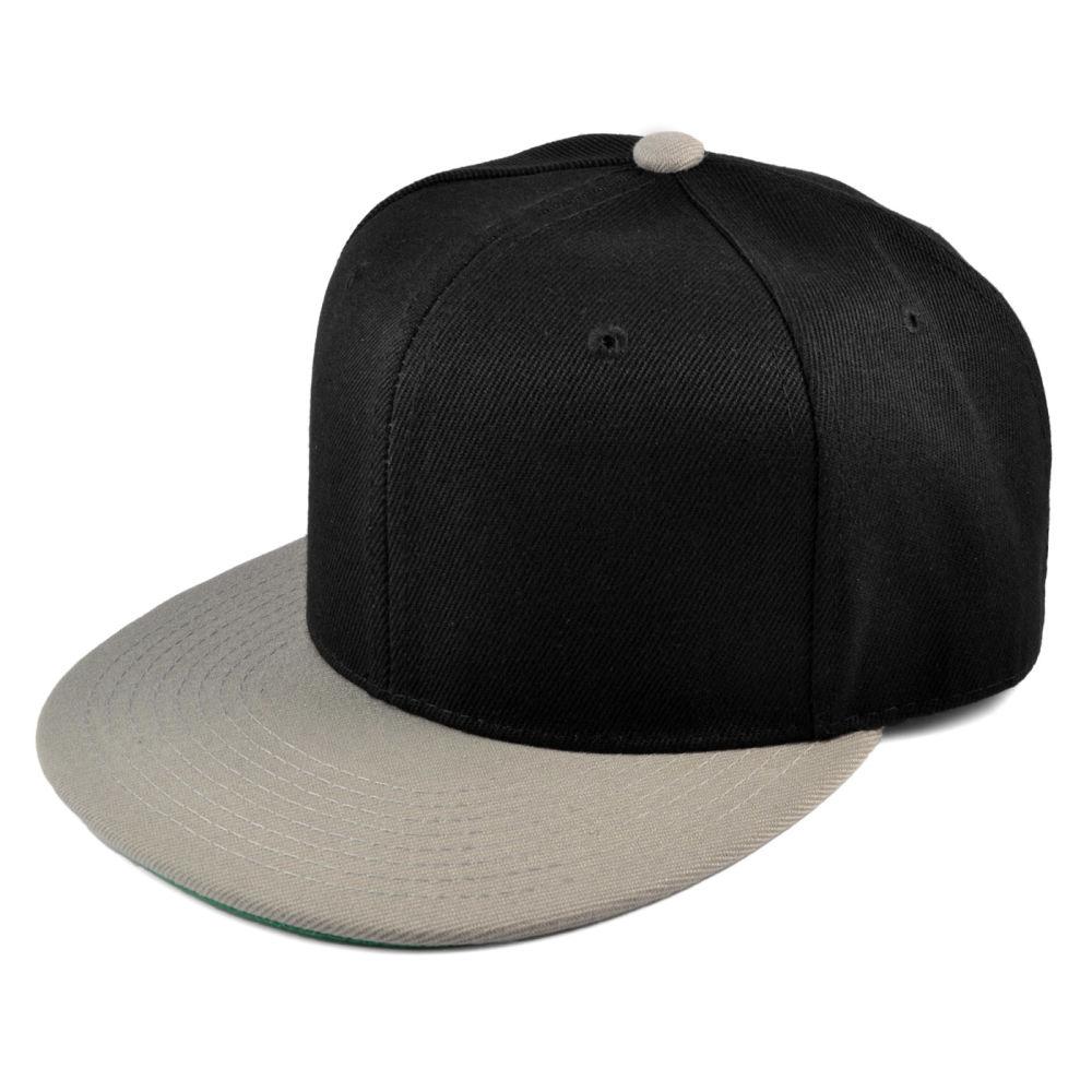 Gorra Snapback negra y gris  46645221bae