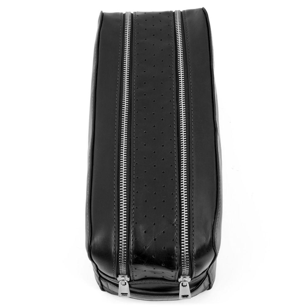 Trousse de toilette noire double zip Jasper