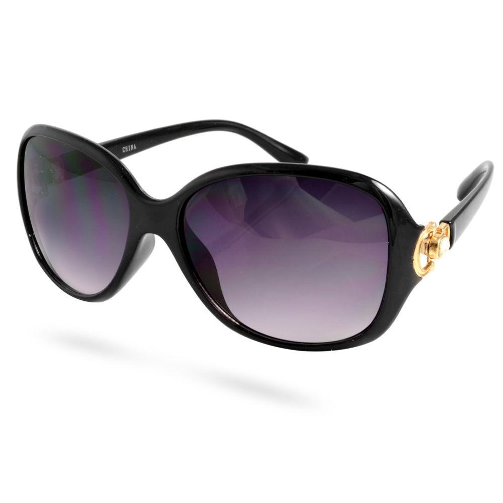 fb2583c1c16e Svarte Zirkon Bling Solbriller