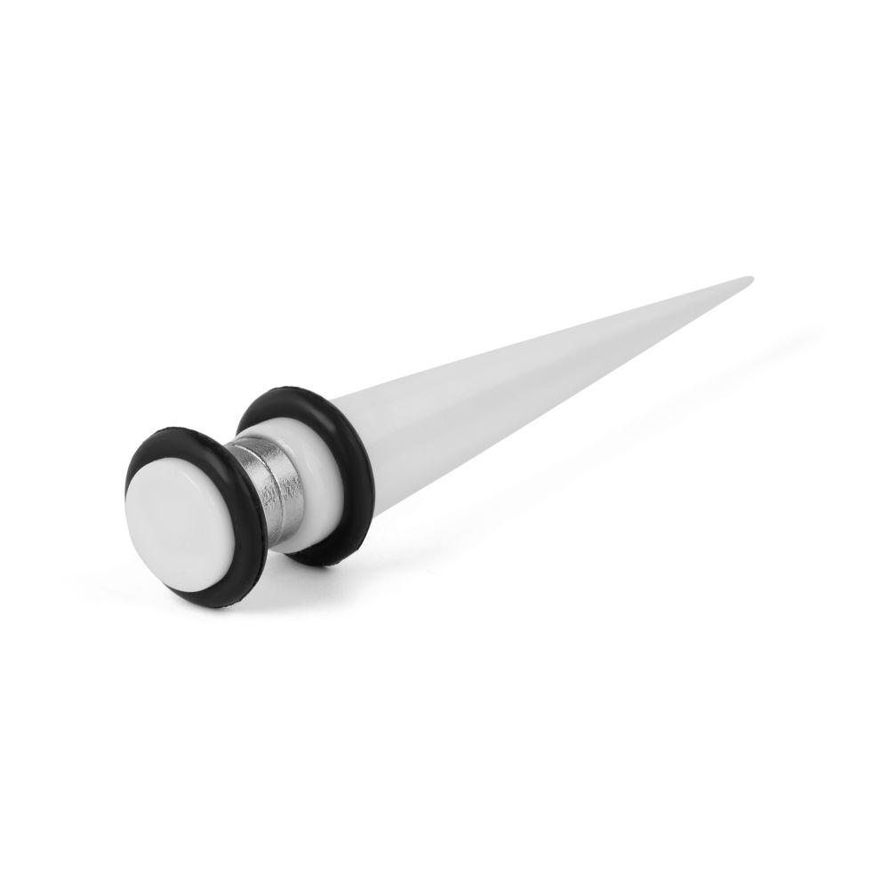 6 mm biela magnetické taper náušnica  1761515d8cd