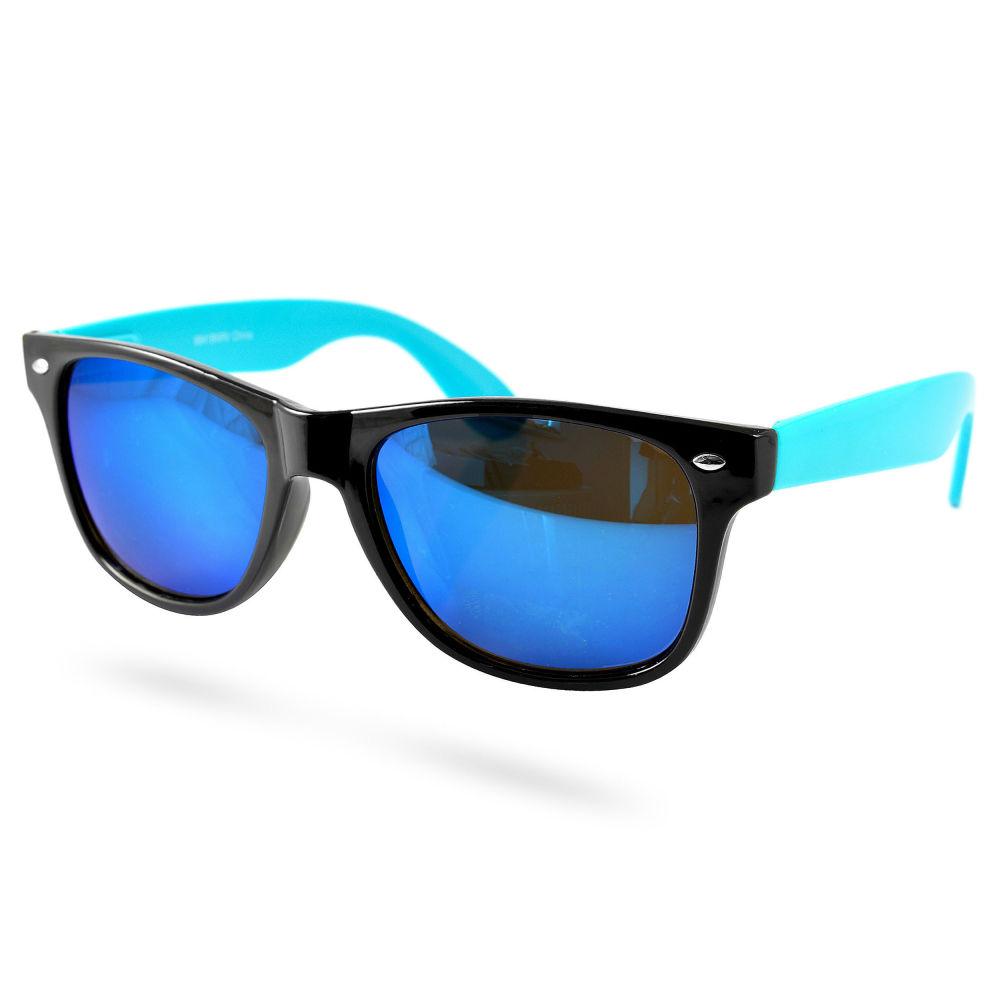 Svarta Blå Euro Wayfarer Solglasögon  5f89250c05ed1