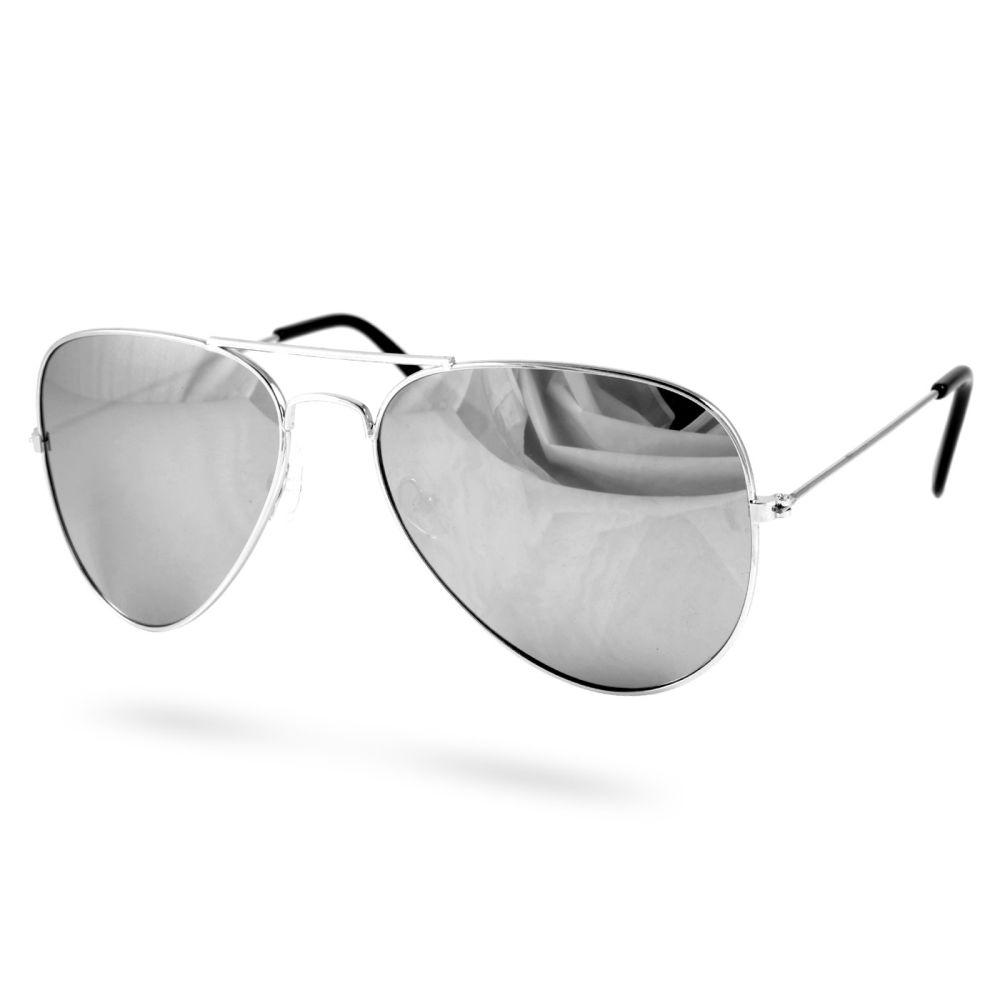 Gafas de sol aviador plateadas   ¡En stock!
