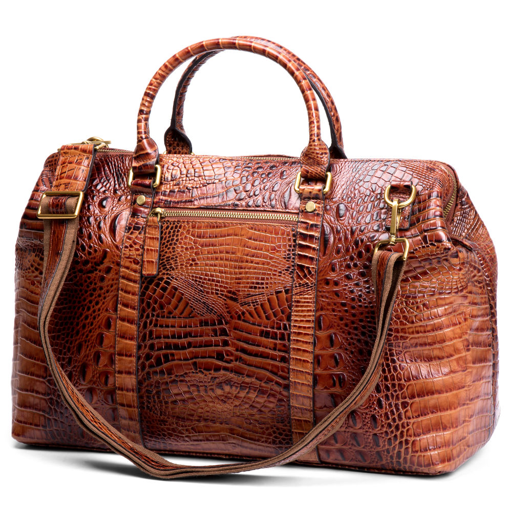 Alligator Looking Leather Travel Bag  8566e604fdb4b