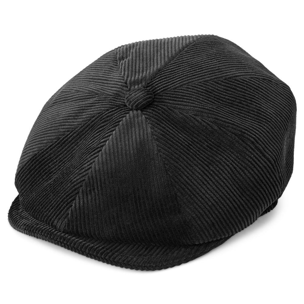 Berretto irlandese Fido a spicchi in velluto nero  cdf476220133