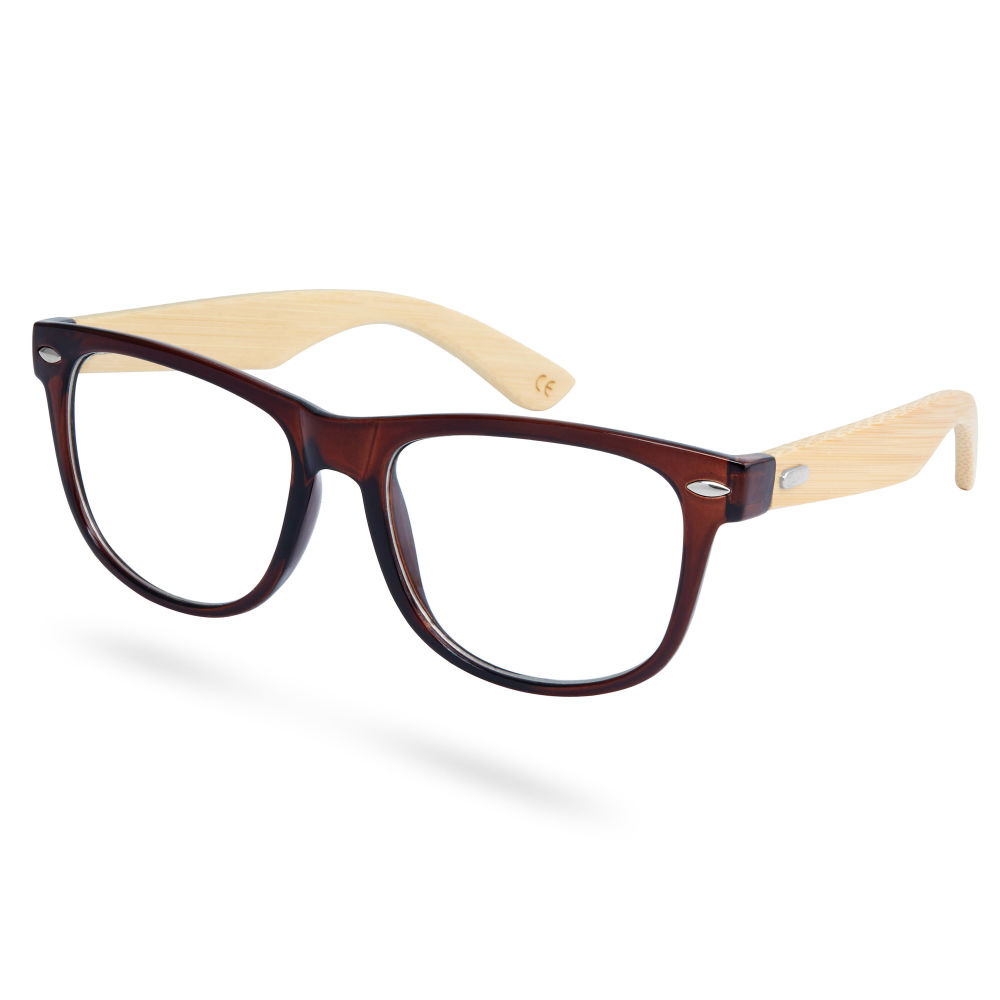 59ff7f94a368 Brown Bamboo Clear Glasses